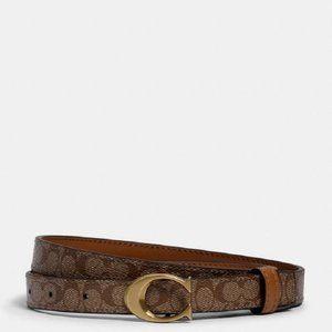 $98 *NEW* Med COACH Signature Buckle Belt, 18mm